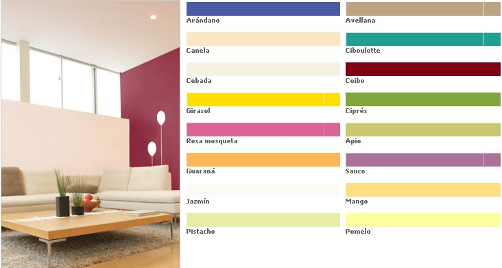 Color n living l tex interior de colores x 4 litros for Colores para living 2016